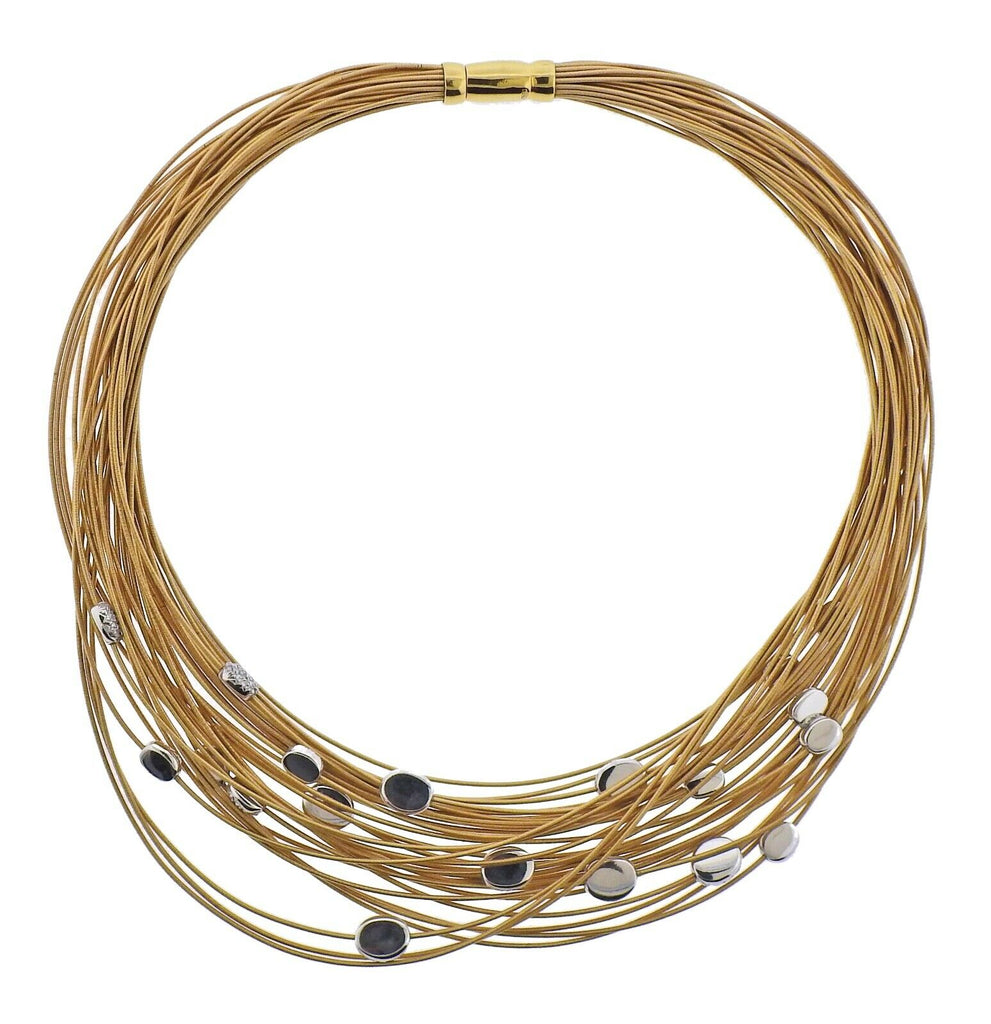 thumbnail image of Marco Bicego Cairo 4.00ctw Diamond Gold Necklace
