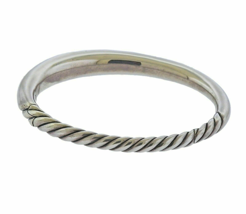 thumbnail image of David Yurman Pure Form Sterling Silver Smooth Bangle Bracelet