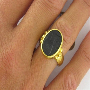 image of New Gurhan 24k Gold Intaglio Ring