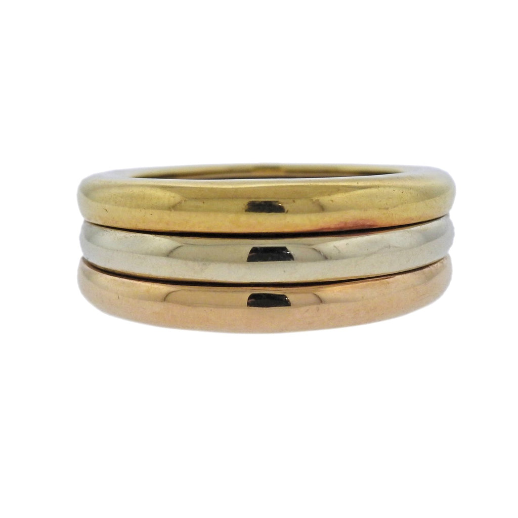 thumbnail image of Cartier Tri Color Gold Band Ring