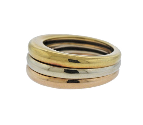 image of Cartier Tri Color Gold Band Ring