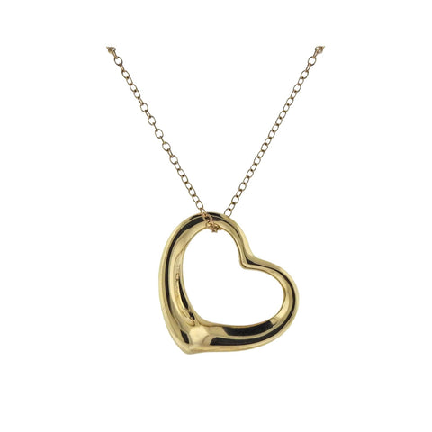 image of Tiffany & Co Peretti Open Heart Pendant Long Necklace