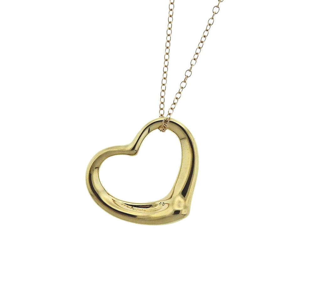 thumbnail image of Tiffany & Co Peretti Open Heart Pendant Long Necklace