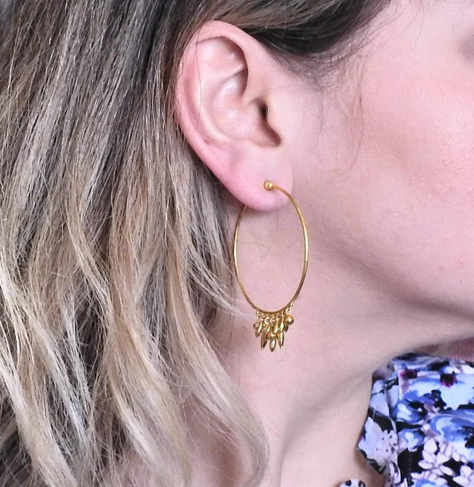 thumbnail image of Gurhan Gold Hoop Earrings