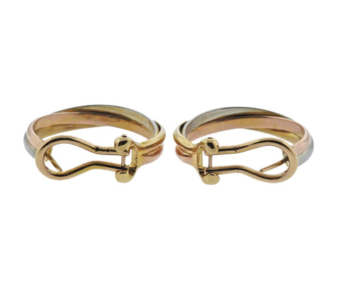 image of Cartier Trinity Gold Hoop Earrings