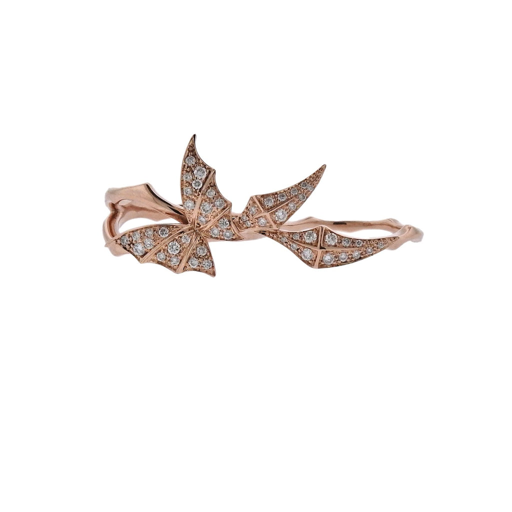 thumbnail image of Stephen Webster Fly by Night Rose Gold Diamond Two Finger RIng