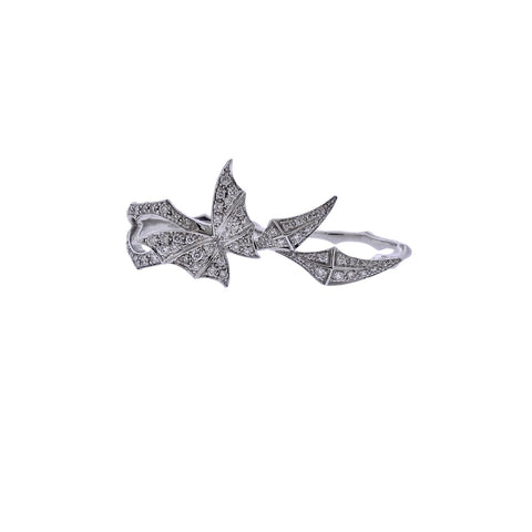 image of Stephen Webster Fly by Night Gold Diamond Two Finger RIng