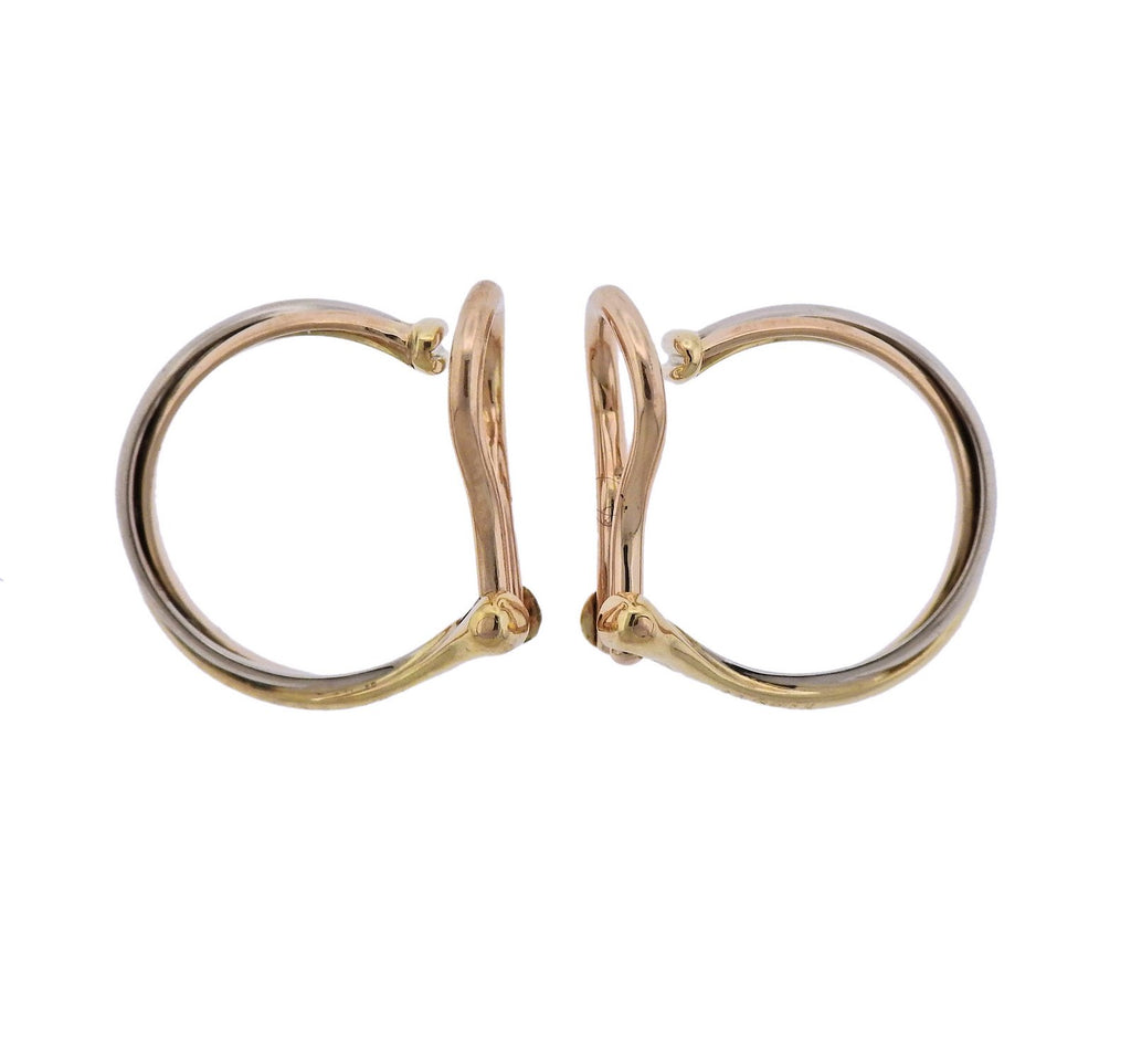 thumbnail image of Cartier Trinity Gold Mini Hoop Earrings