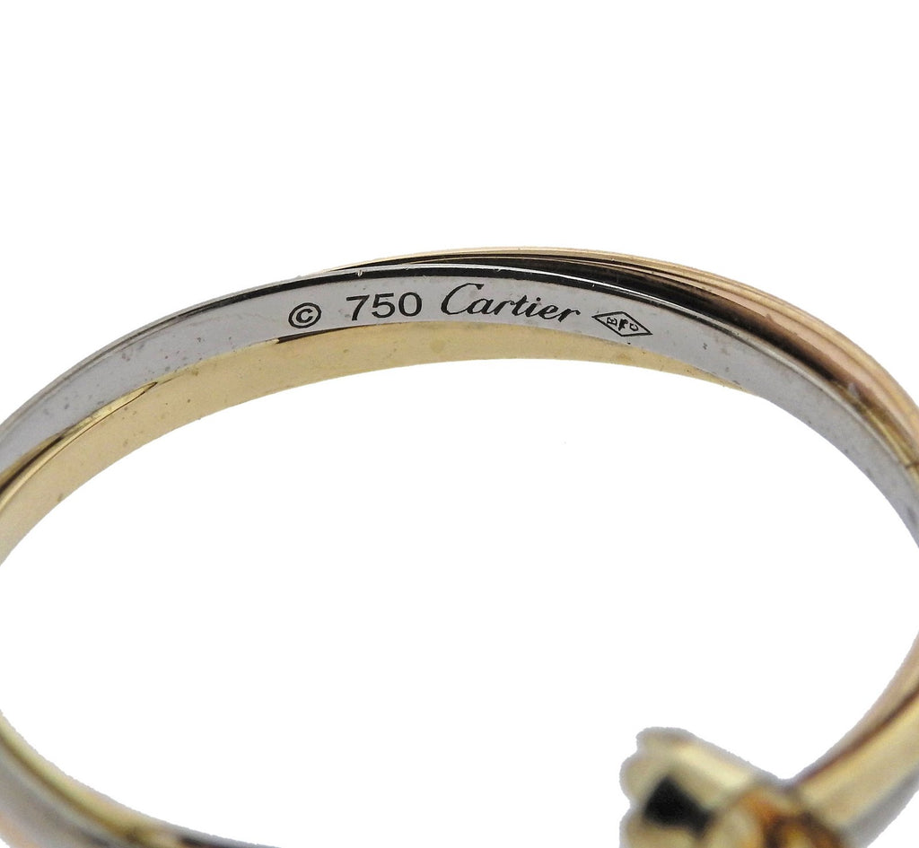 thumbnail image of Cartier Trinity Gold Hoop Earrings