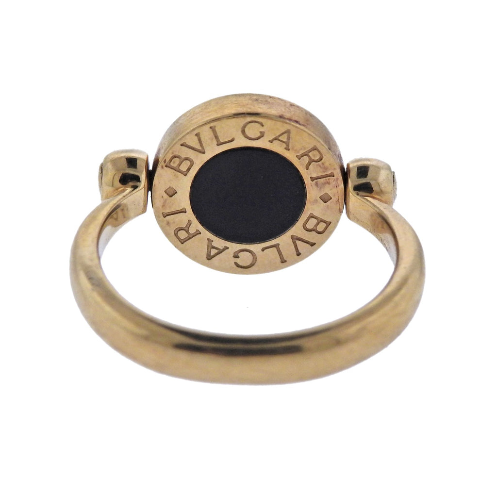 thumbnail image of Bulgari Coral Onyx Gold Flip Ring