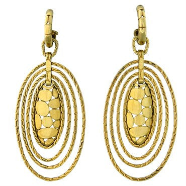 image of John Hardy Kali 18K Gold Oval Drop Earrings