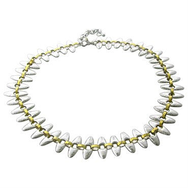 image of New Gurhan Linked Seed 24K Gold Sterling Silver Necklace