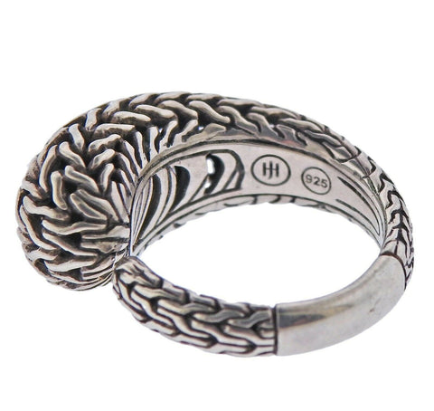 image of John Hardy Sterling Silver Classic Chain Kick Ring