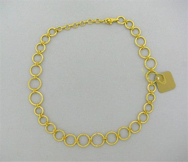 image of New Gurhan 24k Gold Circle Link Diamond Necklace