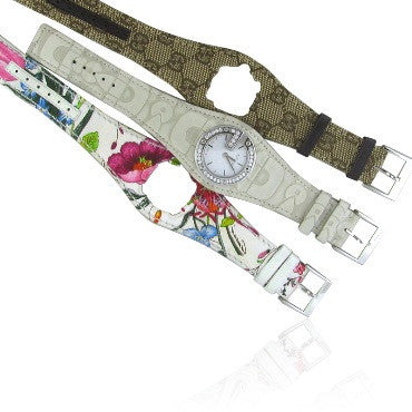 image of Gucci Bandeau Diamond Ladies Watch Multiple Straps