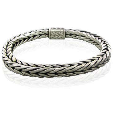 image of Estate John Hardy Sterling Silver Woven Box Bracelet