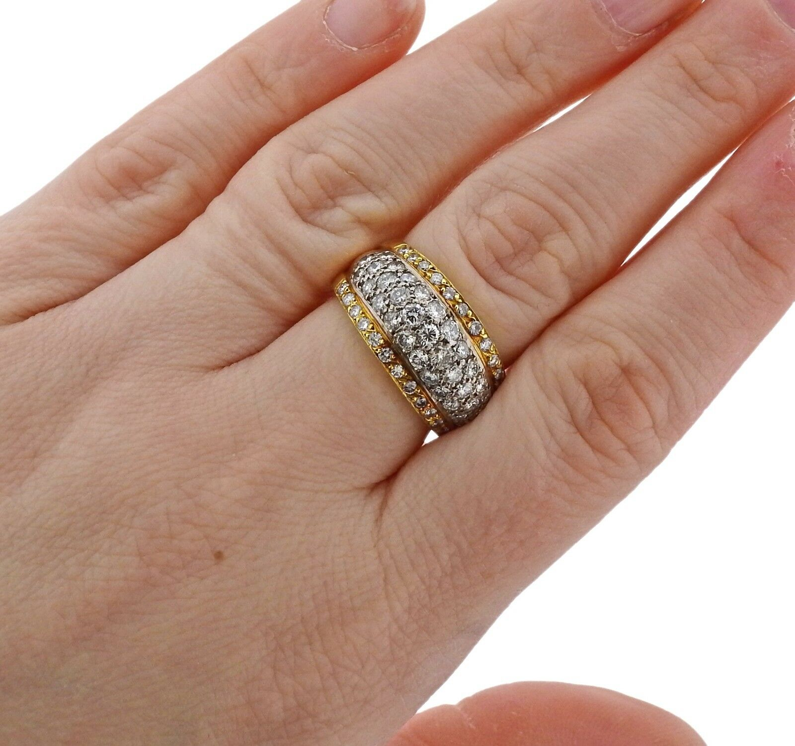 2.50ctw Diamond 18k Gold Half Band Ring