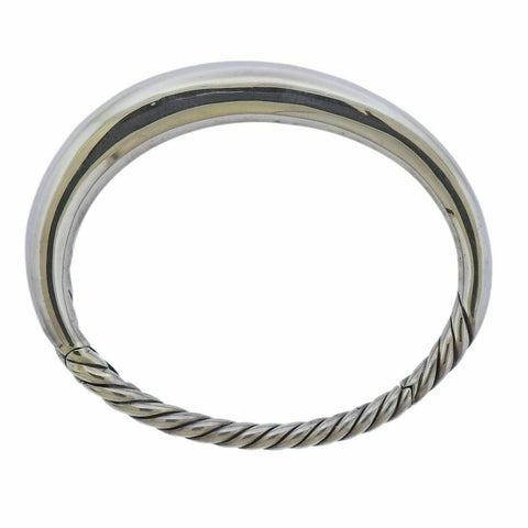 image of David Yurman Pure Form Sterling Silver Smooth Bangle Bracelet