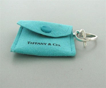 image of Estate Tiffany & Co Paloma Picasso Sterling Silver Loving Heart Ring