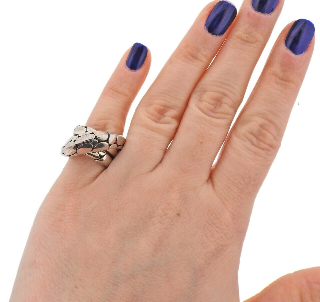 thumbnail image of John Hardy Sterling Silver Kali Crossover Ring
