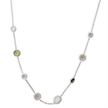 image of New Ippolita Sterling Silver Wonderland Multi Color Gemstone Necklace