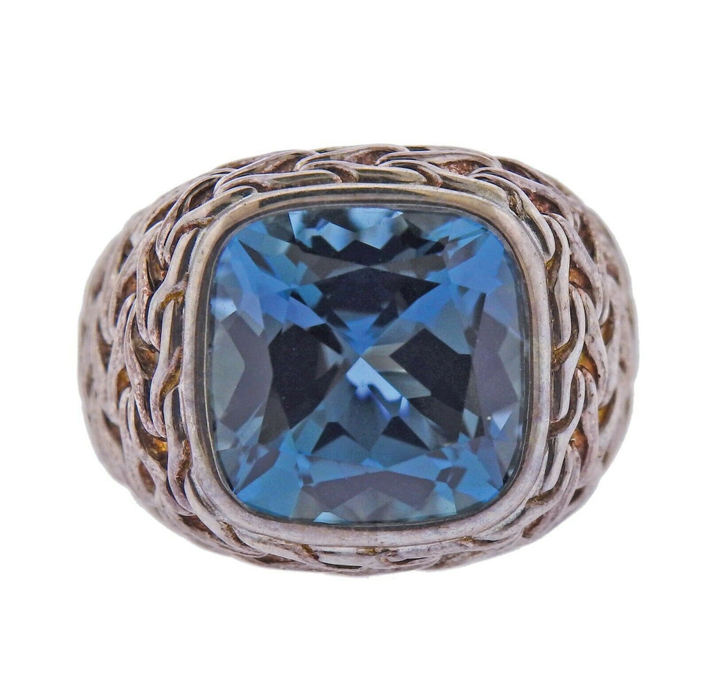 thumbnail image of John Hardy Sterling Silver Magic Cut Blue Topaz Ring