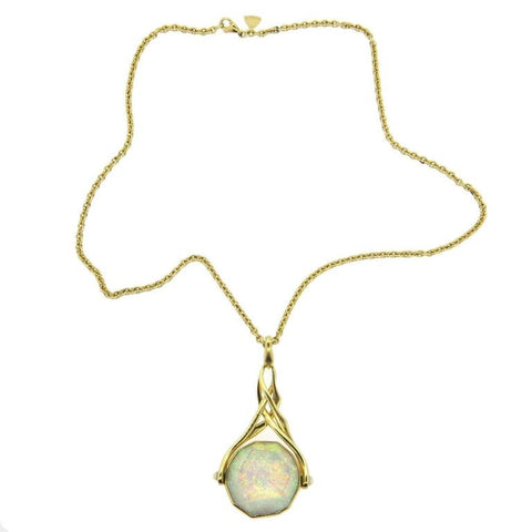 Stephen Webster Opal Mother of Pearl Gold Flip Pendant Necklace