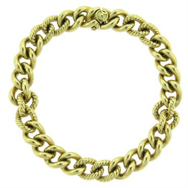 image of David Yurman Gold Chain Link Bracelet