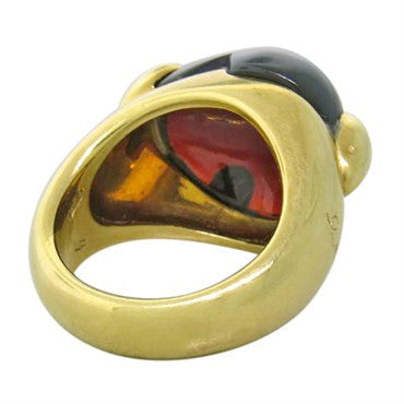 thumbnail image of Pomellato Garnet Cabochon Heart Gold Ring