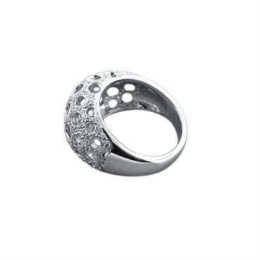 thumbnail image of New Gumuchian 18K White Gold Diamond Open Honeycomb Ring