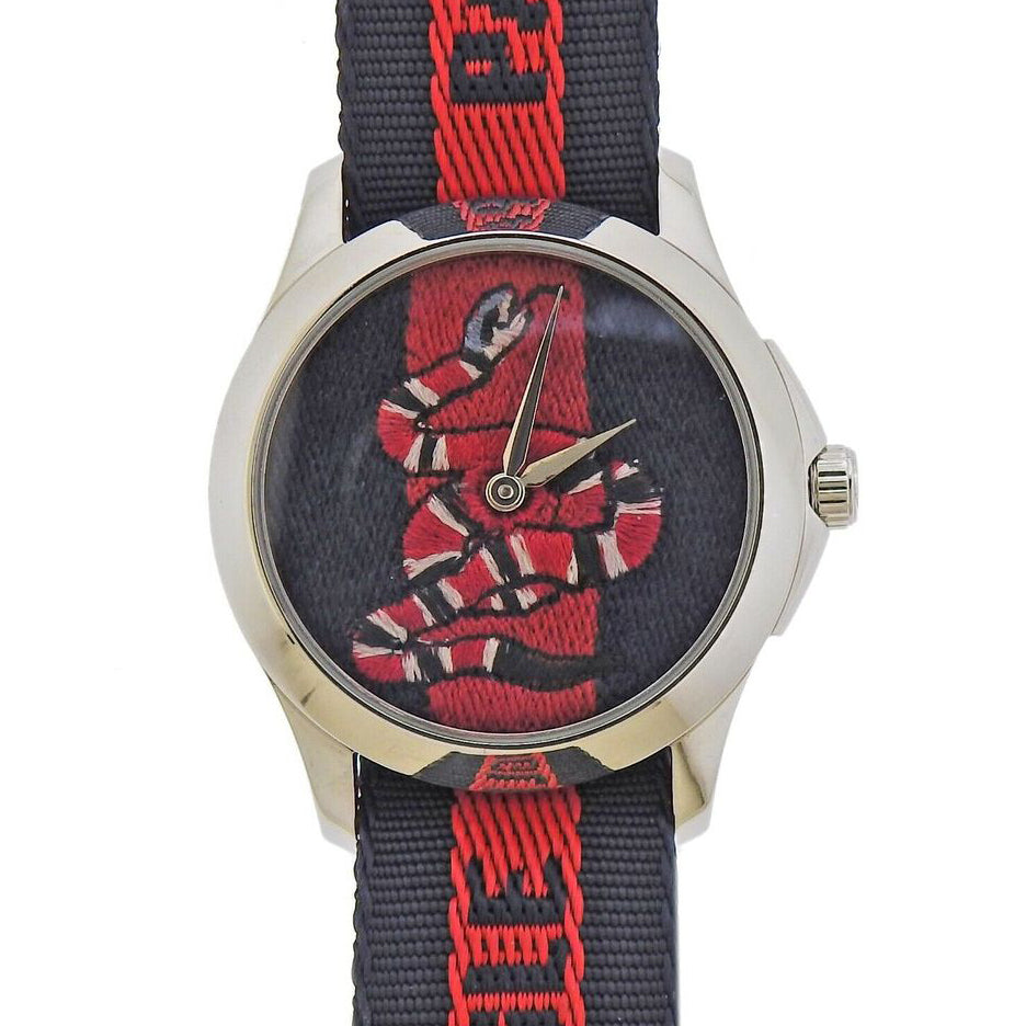 thumbnail image of Gucci Snake Marveilles 36mm Steel Watch YA126493A