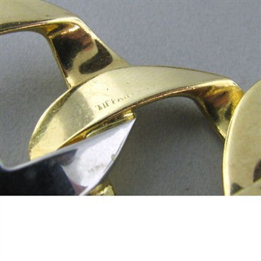 image of Estate Tiffany & Co 18k Gold Heart Link Bracelet