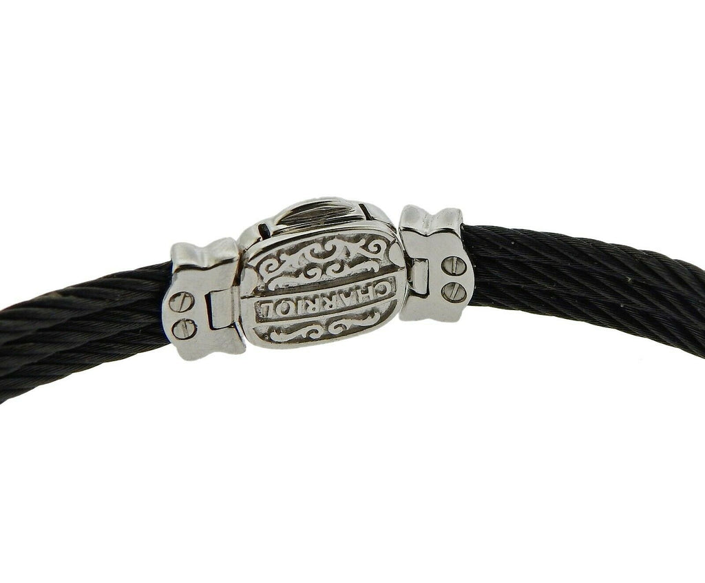 thumbnail image of Charriol Celtic Noir Gold Steel Diamond Bracelet