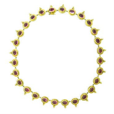Temple St. Clair 18k Yellow Gold 33.04ct Pink Tourmaline Necklace