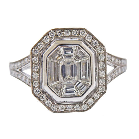 image of Gregg Ruth Diamond Gold Engagement Ring