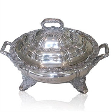 image of Rare Tiffany & Co Chrysanthemum Sterling Soup Tureen