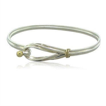 image of Estate Tiffany & Co Sterling Silver 18K Gold Bracelet