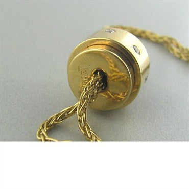 thumbnail image of Estate Piaget 18k Gold Diamond Bolo Slide Necklace