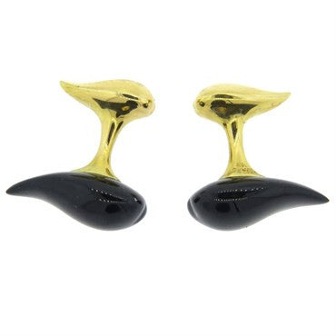 image of Tiffany & Co. Elsa Peretti Onyx Gold Cufflinks