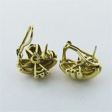 thumbnail image of Estate Tiffany & Co Classic X 18K Gold Earrings