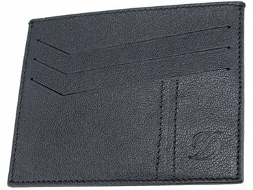 image of ST Dupont Black Leather Defi Wallet 086609