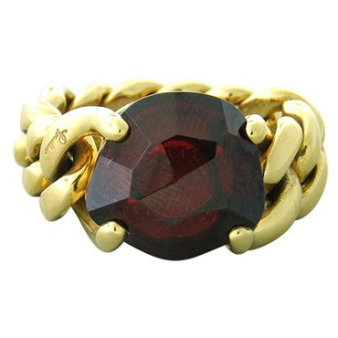 image of New Pomellato Lola 18k Gold Garnet Ring