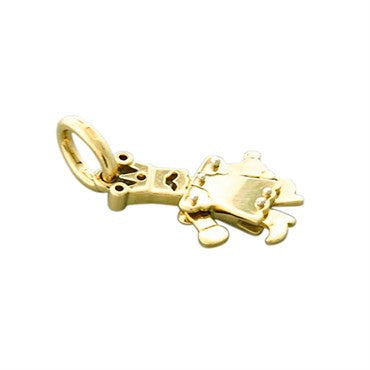 image of New Pomellato Orsetto 18k Gold Movable King Pendant Charm