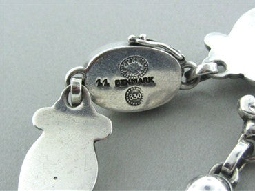 thumbnail image of Georg Jensen Denmark Old Mark 830 Silver Bracelet Number 11