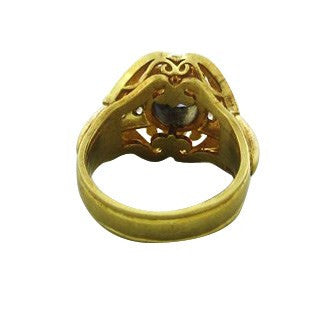 thumbnail image of Robin Rotenier 18K Yellow Gold Diamond Iolite Ring