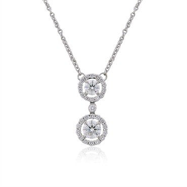 image of New Hearts On Fire Repertoire Diamond Drop Pendant Necklace