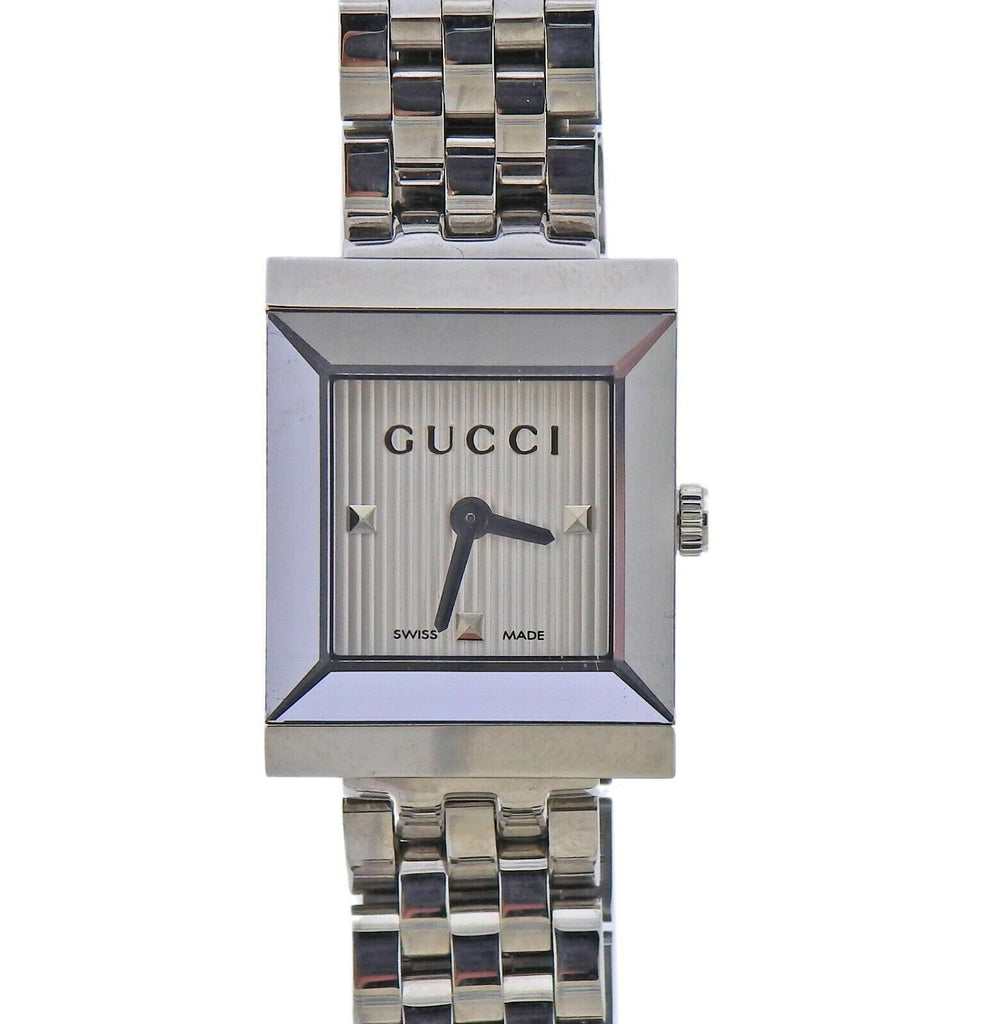 thumbnail image of Gucci G-Frame Rectangular Steel Ladies Watch YA128402