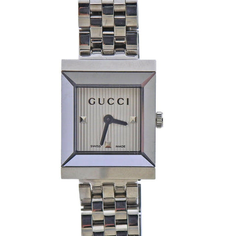 image of Gucci G-Frame Rectangular Steel Ladies Watch YA128402