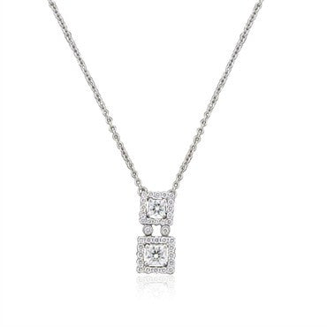 image of Hearts On Fire Repertoire Double Dream 18K Diamond Pendant Necklace