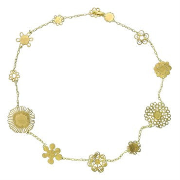 image of Judy Geib 18k Gold Flowery Necklace